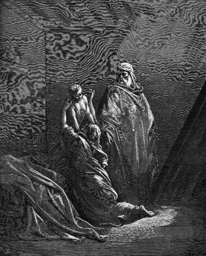 Гюстав Доре. Илия воскрешает сына вдовы в Сарепте. 1866.