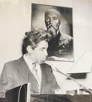А.А.Шпунт на Третьих  «Рериховских Чтениях». Новосибирск, 16 октября 1984. Фото из архива А.Шпунта (Израиль)