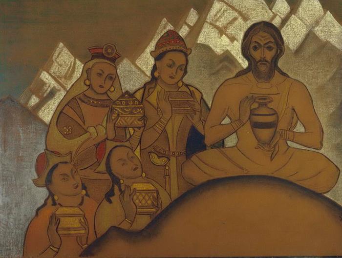 Н.К.Рерих. Святое Приношение. Серия «Сикким». 1924