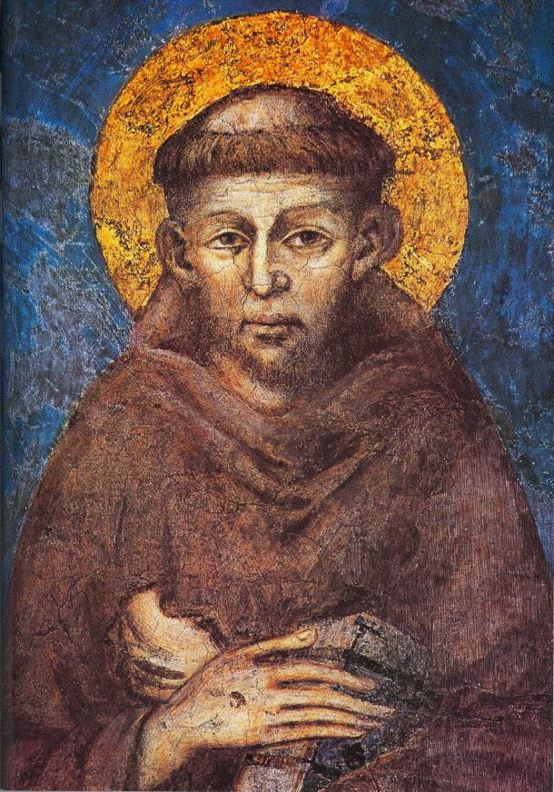 Чимабуэ. Святой Франциск. Фреска. 1273. Монастырь Сакро Конвенто. Ассизи