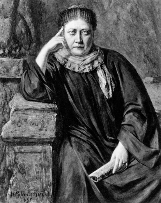 IГ. Шмихен. Портрет Е.П. Блаватской. 1885 год.