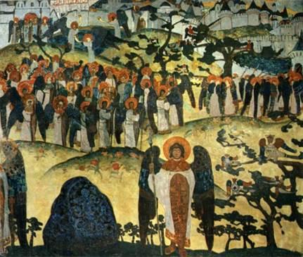 Н.К.Рерих. Сокровище ангелов. 1905.