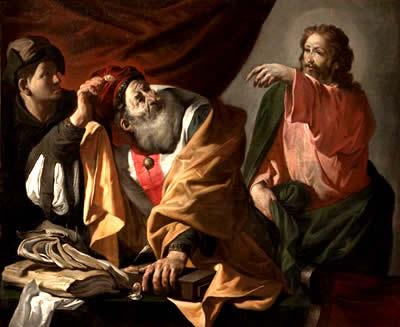 Хендрик Янс Тербрюгген. (1588-1629). Призвание апостола Матфея.