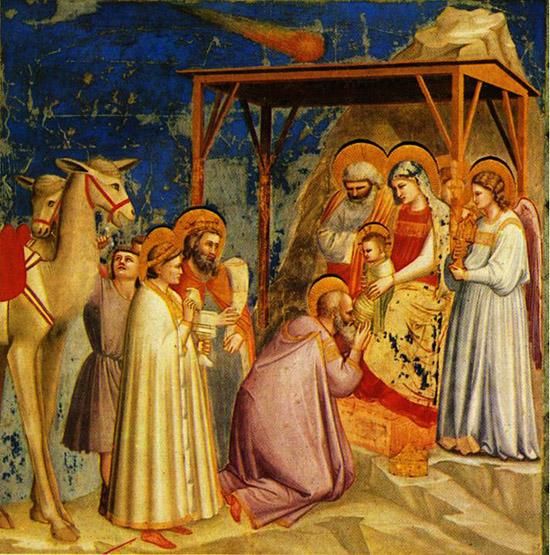 Джотто 1267-1337). Поклонение волхов.