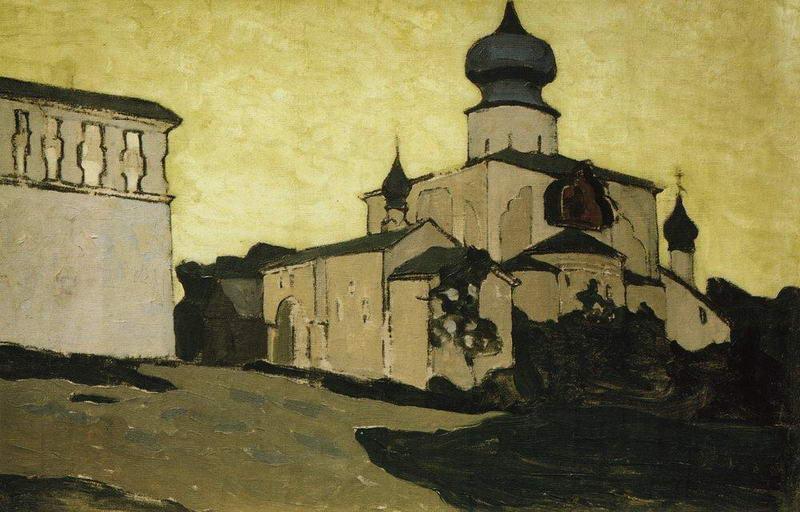 Н.К. Рерих. Псков. Успенская Пароменская церковь. Начало 1900-х.