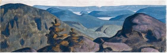 Н.К.Рерих. Долина голубых гор. 1917-1918.