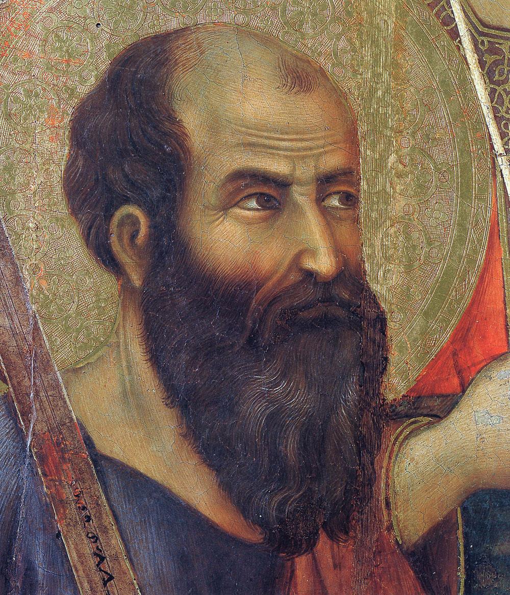 Дуччо (1260-1319). Апостол Павел.