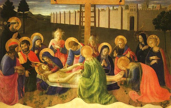 Джотто (1267-1337). Снятие с креста.