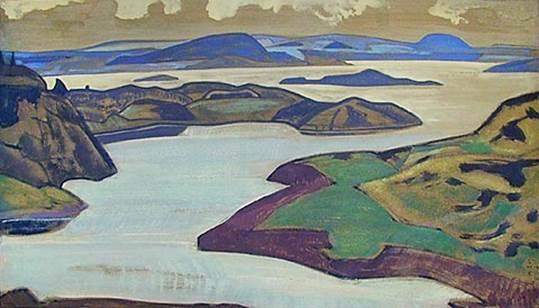 Н.К.Рерих. Ладожское озеро. 1918