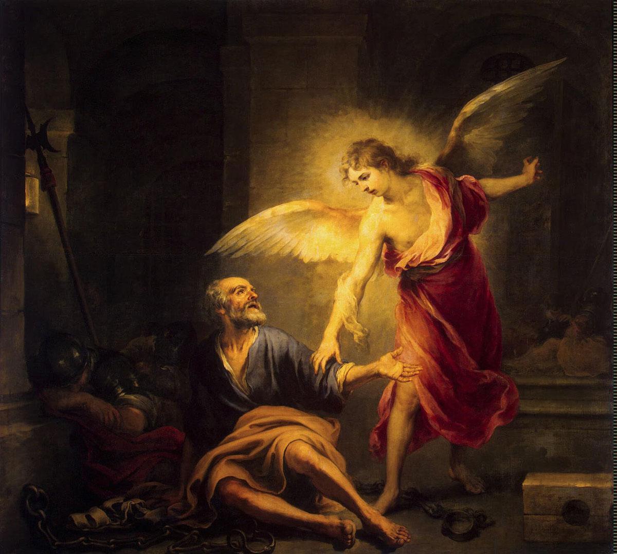 Ангел посетил Павла в неволе.