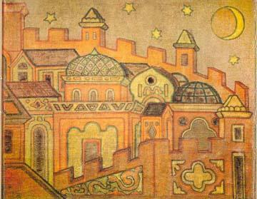 Н.К.Рерих. Города. 1914.