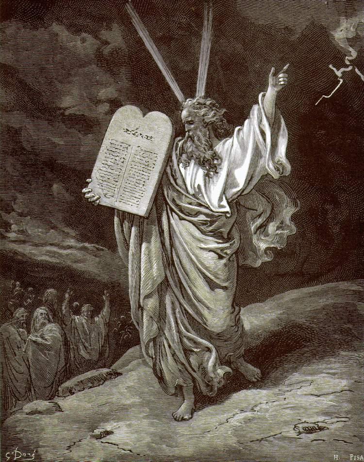 Гюстав Доре. Схождение Моисея с горы Синай. 1864-1866