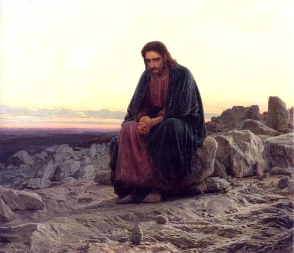 Иван Крамской.  Христос в пустыне.1872.