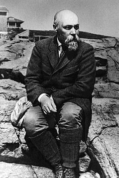 Н.К.Рерих на Монхегане. 1922