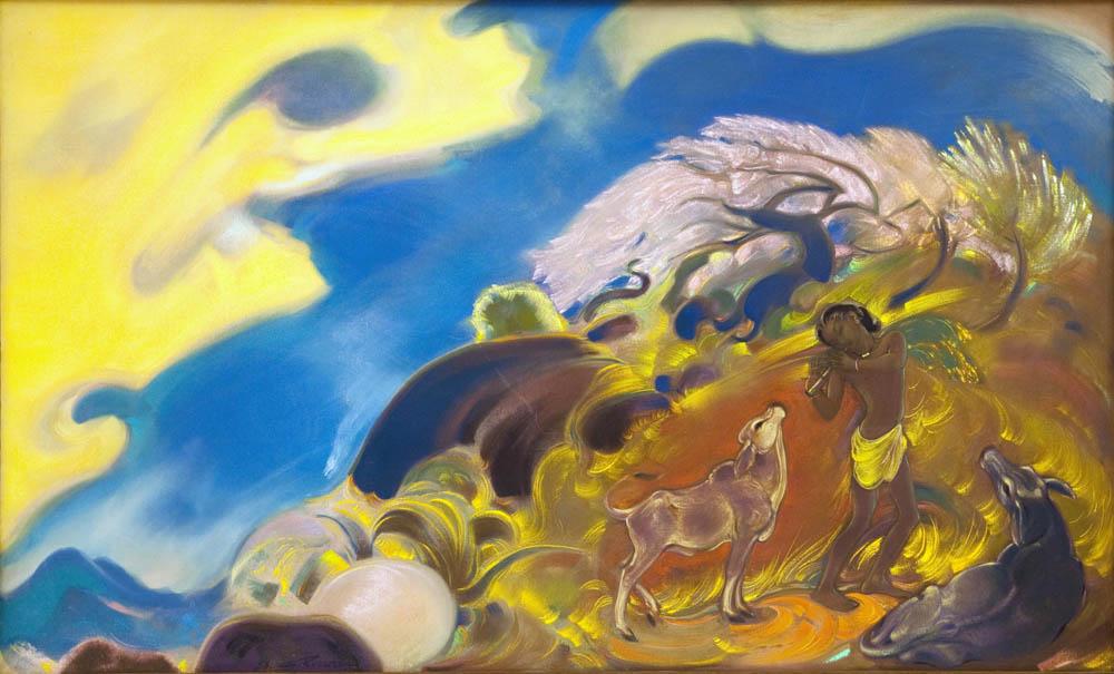 С.Н.Рерих. Весна. (Священная флейта). 1953