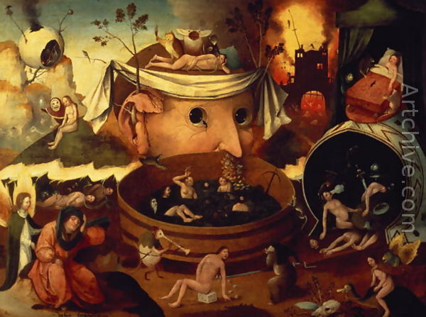 Босх (1450-1516). Ад.
