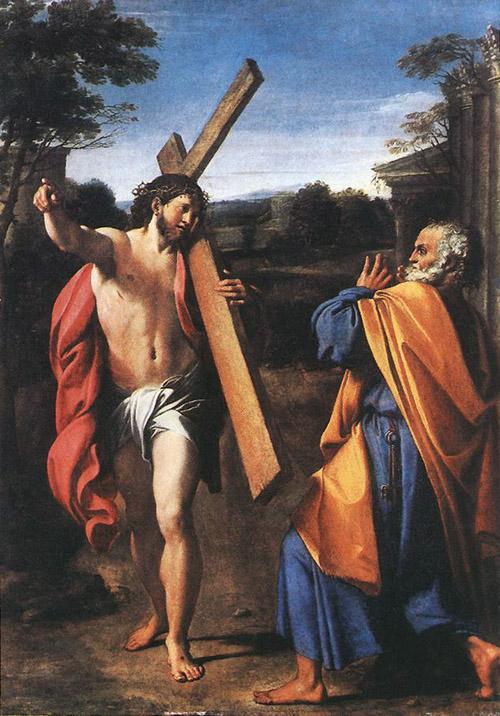 Аннибале Карраччи (1560-1609). Явление Христа Петру на Аппиевой дороге.
