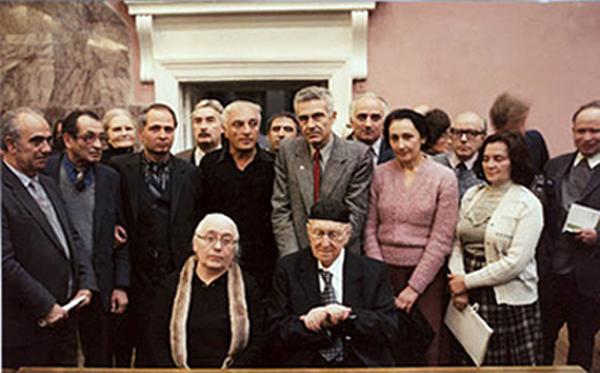 А.Ф. Лосев, А.А. Тахо-Годи и сотрудники МГПИ.