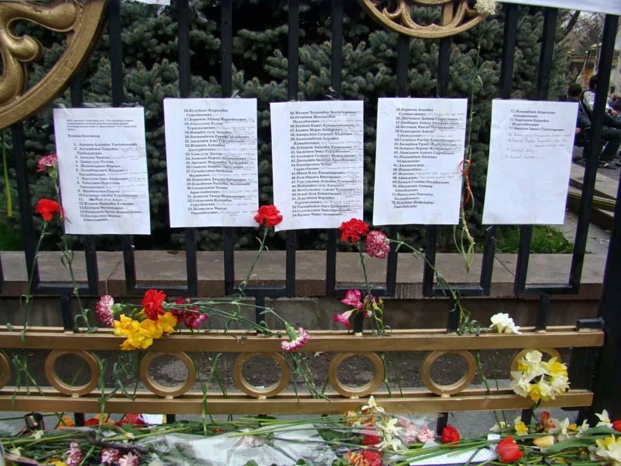 Списки погибших 7 апреля 2010г.