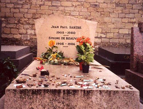 Гробница Жан-Поль Сартр и Симоны де Бовуар
