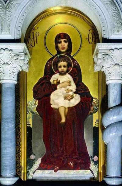 М. А. Врубель. Богоматерь с младенцем. 1885