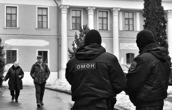 Музей им. Рериха. Силы специального назначения ОМОН в действии