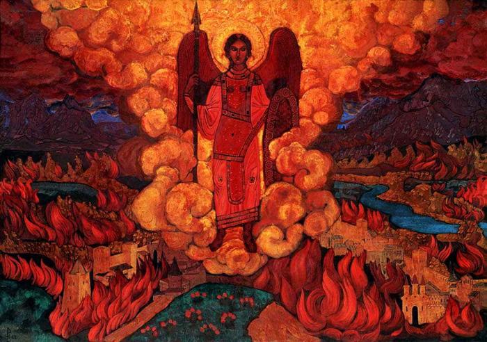 Н.К. Рерих. Ангел последний. 1912