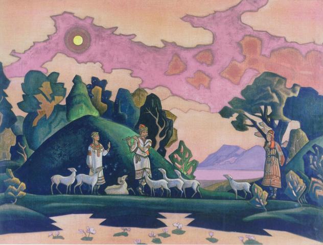 Н.К. Рерих. Кришна-Лель (Святой Пастырь). 1932