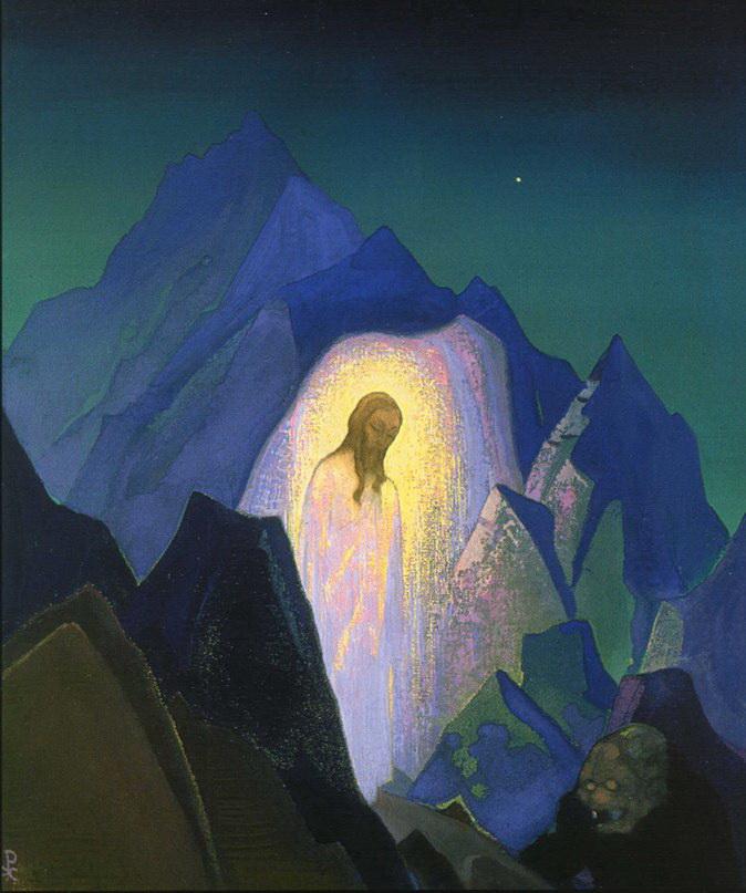 Н.К. Рерих. Христос в пустыне.1933