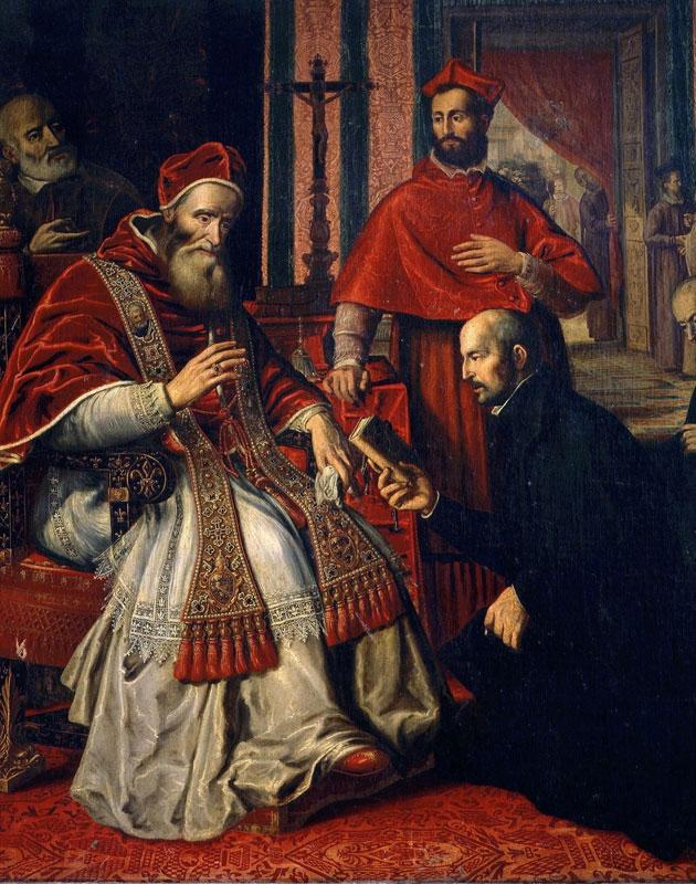 Игнатий Лойола перед Папой Павлом III.