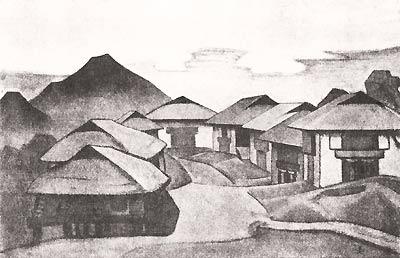 Н.К. Рерих. ПЕМАЙАНЦЗЕ. Серия «Сикким». 1924
