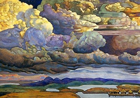 Н.К. Рерих. Небесный бой.1912