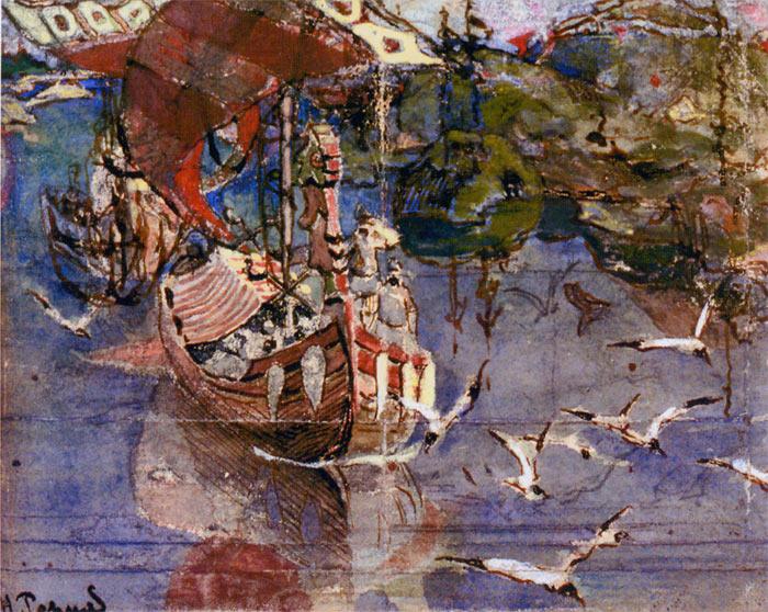 Н.К. Рерих. Заморские гости. 1900
