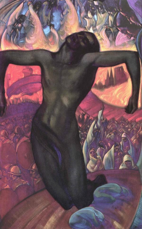 С.Н. Рерих. Распятое человечество (центральная часть триптиха), 1939-1942 г.