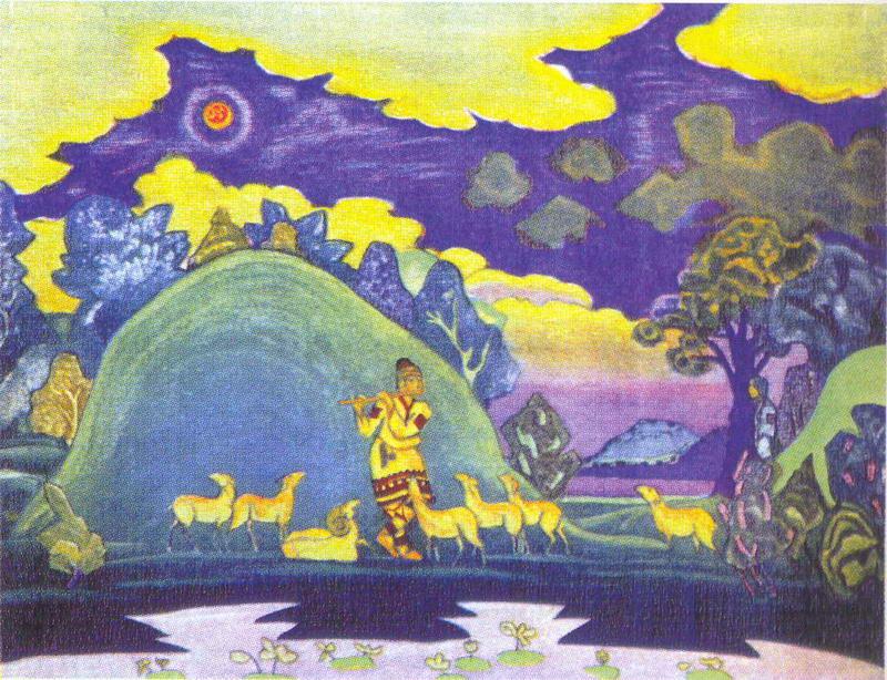 """Лель. Эскиз к опере """"Снегурочка"""" для Ковент-Гардена. 1919."""