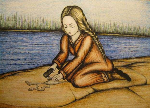 Рис. 8 «Ворожба Читрангады» автор Елена Ромашкина 2015 год