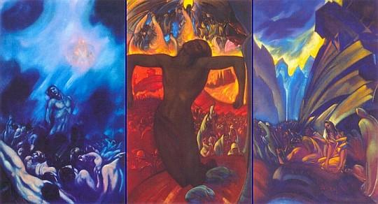С.Н.Рерих. Распятое человечество (Триптих) 1939-1942 гг.