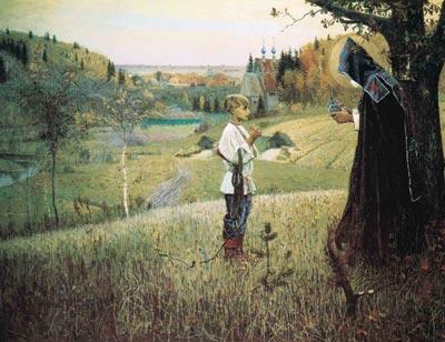 М.В. Нестеров. Видение отроку Варфоломею. 1890.