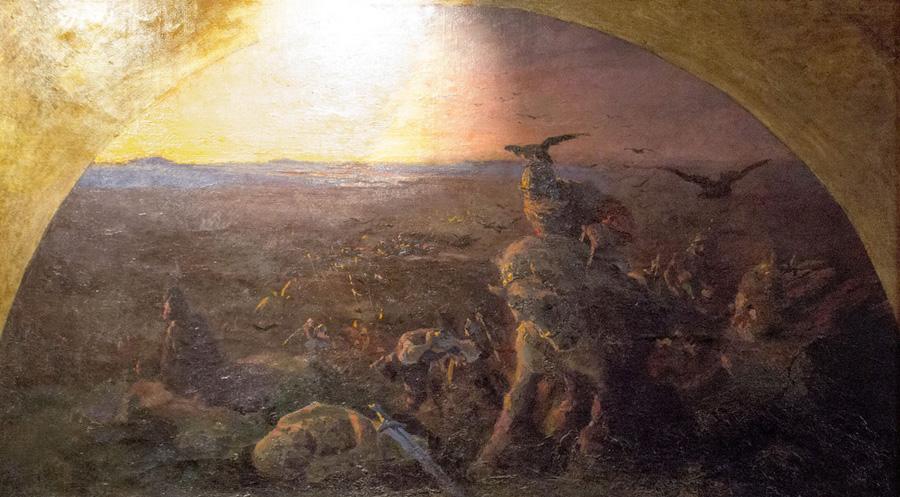 Н.К. Рерих. Вечер Богатырства Киевского (Эскиз фрески на тему былины). 1895-1896
